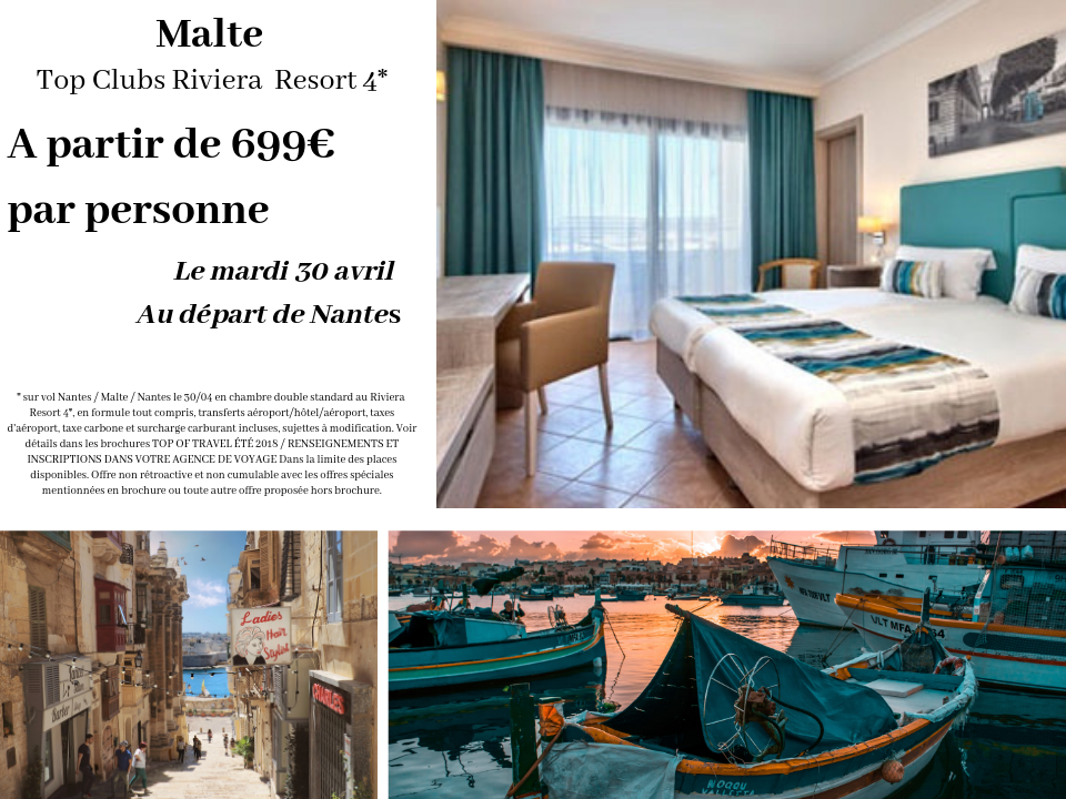 Malte Top Clubs Riviera  Resort 4* promotion