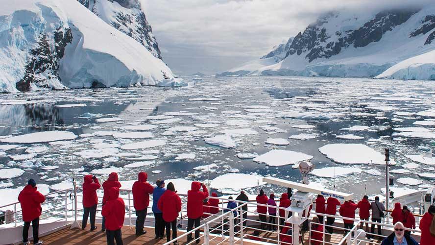 Croisière en Antartique : glaciers