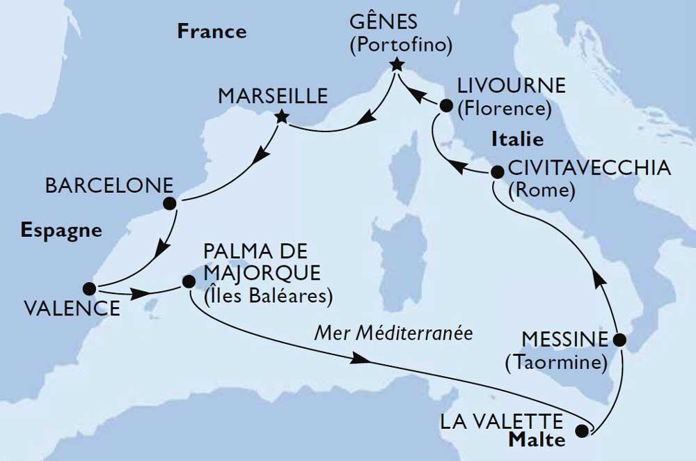Croisière Méditerrannée