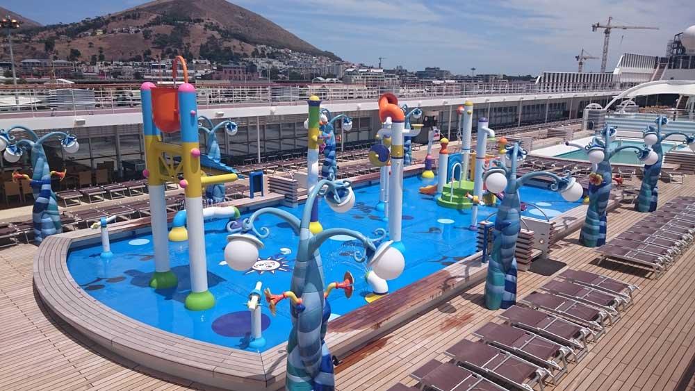 Croisière Méditerrannée MSC Sinfonia parc aquatique