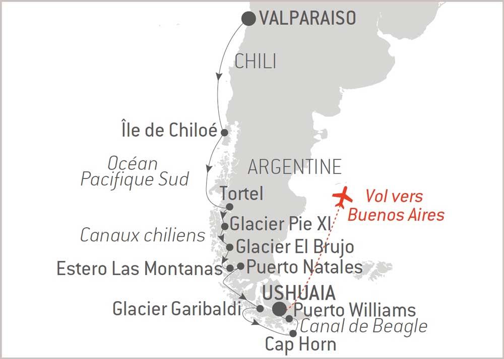 Croisière en Patagonie